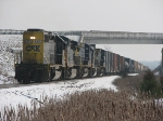 CSX 8370 Leading X091-31 Long Hood Forward After Grabbing Q335